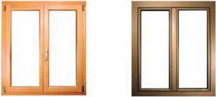 Ventanas y puertas de madera recubiertas de aluminio y bronce for Ventanas de aluminio color bronce